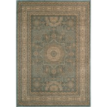 "Momeni Belmont Collection Medallion Area Rug - 7'10""x9'10"" in Light Blue - Closeouts"