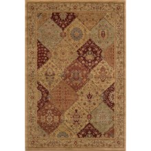 "Momeni Belmont Collection Tibetian Weave Patchwork Area Rug - 5'3""x7'6"" in Burgundy - Closeouts"