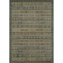 Momeni Belmont Power-Loomed Rug - 2x3', Textured Finish in L.Blue-Be 04 - Closeouts