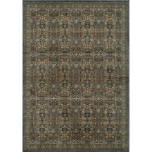 Momeni Belmont Power-Loomed Rug - 2x3', Textured Finish in Light Blue-Be 07 - Closeouts