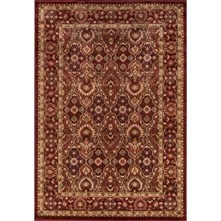 "Momeni Belmont Traditional Area Rug - 3'11""x5'7"" in Red Border - Closeouts"
