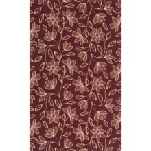 "Momeni Capris Collection Hand-Carved Wool Area Rug - 8x11"" in Burgundy - Closeouts"