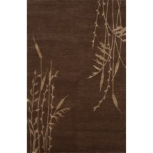Momeni Chelsea Tibetan Area Rug - 5x8', Hand-Knotted Wool in Brown - Overstock