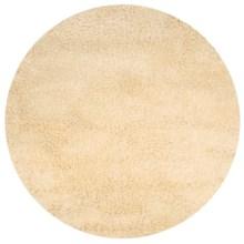 Momeni Comfort Shag Area Rug - Round, 4' Diameter in Ivory - Closeouts