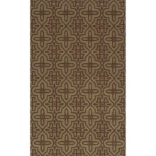 Momeni Deco Collection New Zealand Wool Hand-Carved Area Rug - 8x11' in Sage/Modern Asian - Closeouts