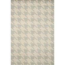 Momeni Delhi Collection Houndstooth Wool Area Rug - 5x8' in Grey - Closeouts