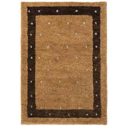 Momeni Desert Gabbeh Accent Rug - Hand-Knotted Wool, 2x3' in Camel - Closeouts