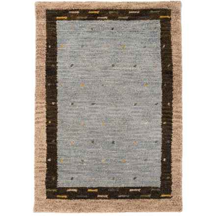 Momeni Desert Gabbeh Accent Rug - Hand-Knotted Wool, 2x3' in Slate - Closeouts