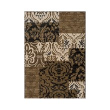 "Momeni Dream Geometric Rug - 5'3""x7'6"" in Ivory Damask - Closeouts"