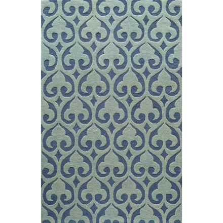 "Momeni Dunes Area Rug - Hand-Tufted Wool, 3'6""x5'6"" in Blue - Closeouts"