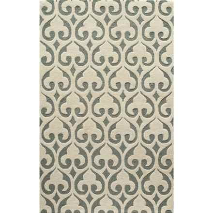 "Momeni Dunes Area Rug - Hand-Tufted Wool, 3'6""x5'6"" in Ivory - Closeouts"