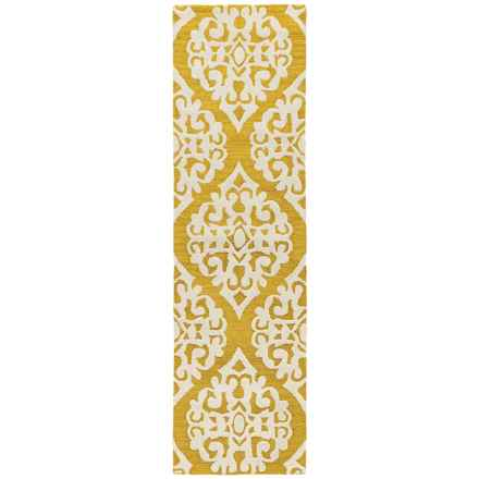 "Momeni Dunes Floor Runner - Hand-Tufted Wool, 2'3""x8' in Gold Medallion - Closeouts"