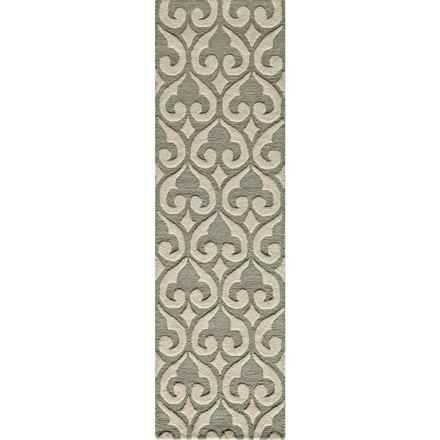 "Momeni Dunes Floor Runner - Hand-Tufted Wool, 2'3""x8' in Ivory - Closeouts"