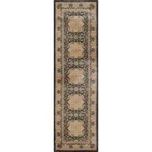 """Momeni Encore Collection Floor Runner - 2'3""""x7'8"""" in Black - Closeouts"""