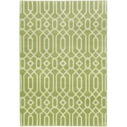 """Momeni Geometric Collection Indoor-Outdoor Area Rug - 5'3""""x7'6"""" in Charcoal Medallion"""