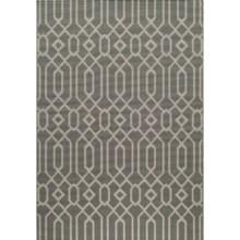 """Momeni Geometric Collection Indoor-Outdoor Area Rug - 5'3""""x7'6"""" in Grey Geo - Overstock"""