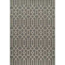 "Momeni Geometric Collection Indoor-Outdoor Area Rug - 7'10""x10'10"" in Grey Geo - Overstock"