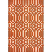 "Momeni Geometric Collection Indoor-Outdoor Area Rug - 7'10""x10'10"" in Orange Geo - Overstock"