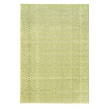"Momeni Geometric Collection Indoor-Outdoor Area Rug - 8'6""x13' in Green Diamond - Overstock"