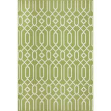 "Momeni Geometric Collection Indoor-Outdoor Area Rug - 8'6""x13' in Green Geo - Overstock"