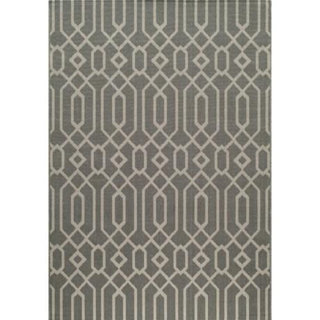"Momeni Geometric Collection Indoor-Outdoor Area Rug - 8'6""x13' in Grey Geo"