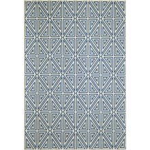 "Momeni Geometric Collection Indoor-Outdoor Floor Runner - 5'3""x7'6"" in Navy Diamond - Overstock"
