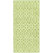 "Momeni Geometric Collection Indoor/Outdoor Area Rug - 2'3""x4'6"" in Green Geo - Overstock"