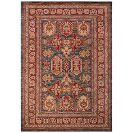 "Momeni Ghazni Collection Accent Rug - 3'11""x5'7"" in Blue Geometric - Closeouts"