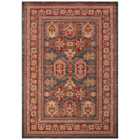 """Momeni Ghazni Collection Accent Rug - 3'11""""x5'7"""" in Blue Geometric"""