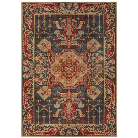 "Momeni Ghazni Collection Area Rug - 7'10""x9'10"" in Navy Medallion"