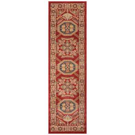 """Momeni Ghazni Collection Floor Runner - 2'3""""x7'6"""" in Red Geometric - Closeouts"""