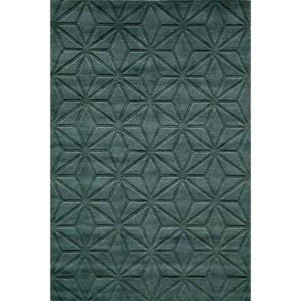 Momeni Gramercy Area Rug - 5x8', Handwoven Wool in Blue - Closeouts