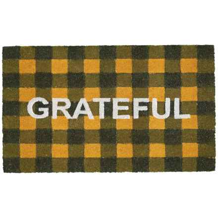 "Momeni Grateful Doormat - 18x30"" in Black/Gold - Closeouts"