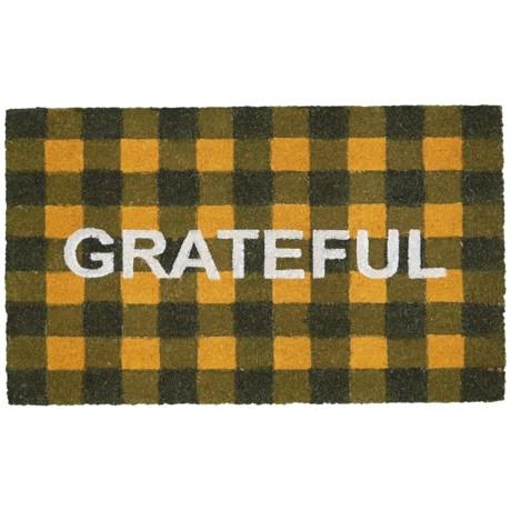 "Momeni Grateful Doormat - 18x30"" in Black/Gold"
