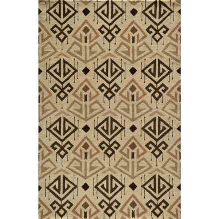 "Momeni Habitat Area Rug - Hand-Tufted Wool, 3'6""x5'6"" in Cream - Closeouts"