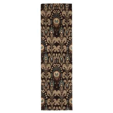 "Momeni Habitat Floor Runner - 2'3""x8"", Hand-Tufted Wool in Chocolate - Closeouts"