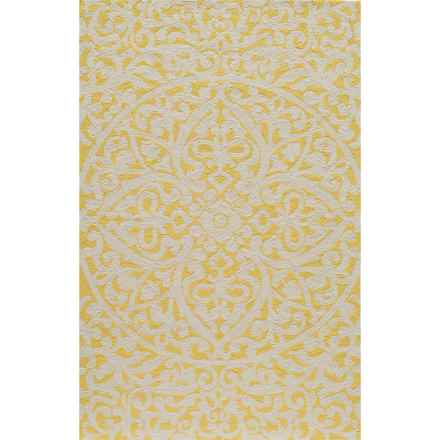 Momeni Hand-Hooked Indoor/Outdoor Accent Rug - 2x3' in Gold - Overstock