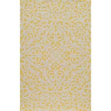 Momeni Hand-Hooked Indoor/Outdoor Accent Rug - 2x3' in Gold - Overstock