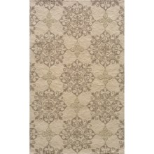 Momeni Hand-Hooked Indoor/Outdoor Area Rug - 5x8' in Beige Medallion - Overstock