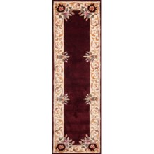 "Momeni Harmony Collection Floor Runner - 2'3""x8', Wool in Burgundy - Closeouts"