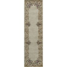 "Momeni Harmony Collection Floor Runner - 2'3""x8', Wool in Ivory - Closeouts"