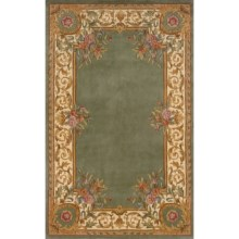 Momeni Harmony Wool Area Rug - 5x8' in Sage - Closeouts