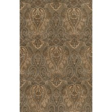 "Momeni Imperial Court Paisley Wool Area Rug - 5'3""x8' in Teal - Closeouts"