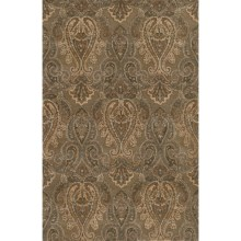 Momeni Imperial Court Paisley Wool Area Rug - 8x11' in Teal - Closeouts