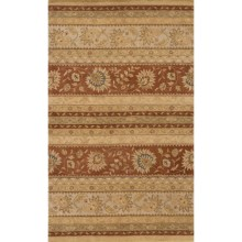 Momeni Imperial Court Stripe Wool Area Rug - 8x11' in Earth - Closeouts