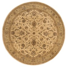 "Momeni Imperial Court Traditional Wool Area Rug - 7'9"" Round in Beige - Closeouts"