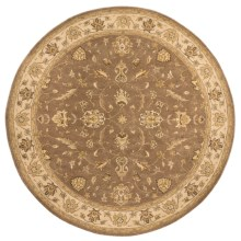 "Momeni Imperial Court Traditional Wool Area Rug - 7'9"" Round in Light Brown - Closeouts"