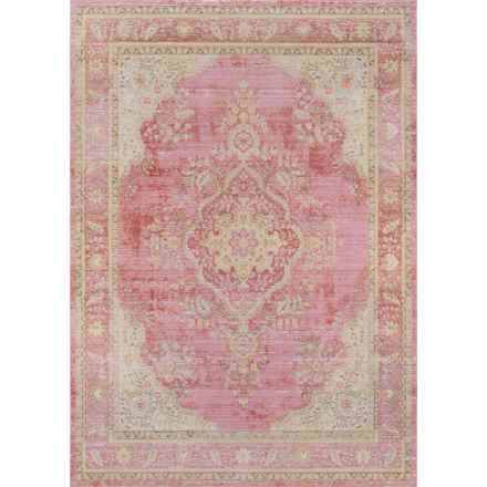 Momeni Isabella Collection Area Rug - 5x8' in Pink Medallion - Closeouts