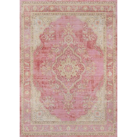 Momeni Isabella Collection Area Rug - 5x8' in Pink Medallion