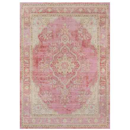 "Momeni Isabella Collection Area Rug - 7'10""x10'6"" in Pink Medallion - Closeouts"